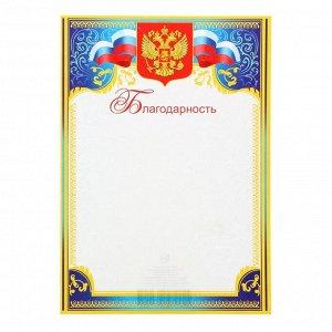 """Благодарность """"Россия""""синяя и зеленая рамка"""