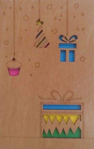 ОТК0023 Стильная деревянная открытка _стр., 140х90х3 мм, Пакет