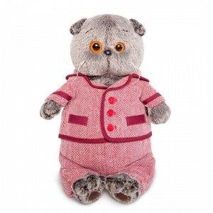 """Мягкая игрушка """"Басик в красном пиджаке и брюках в ёлочку"""" (22 см)"""