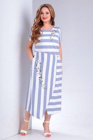 Платье летнее свободного силуэта из льна
