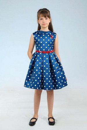 Платья Количество в упаковке: 1; Артикул: СС-1634-2; Цвет: Синий; Ткань: атлас; Состав: 100% хлопок, 100% полиэстер; Цвет: Серый | Синий | Молочный Скачать таблицу размеров