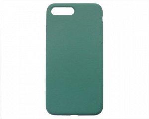 Чехол iPhone 7/8 Plus Liquid Silicone FULL (темно-зеленый)