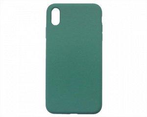 Чехол iPhone XS Max Liquid Silicone FULL (темно-зеленый)