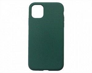 Чехол iPhone 11 Liquid Silicone FULL (темно-зеленый)