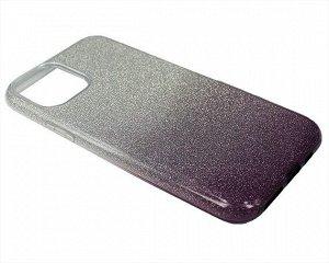 Чехол iPhone 11 Pro Shine (серебро/фиолетовый)