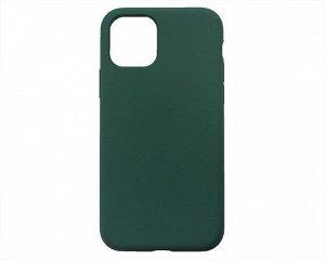Чехол iPhone 11 Pro Liquid Silicone FULL (темно-зеленый)