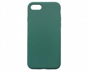 Чехол iPhone 7/8/SE 2020 Liquid Silicone FULL (темно-зеленый)