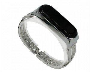 Ремешок Xiaomi Mi Band 3/4 X-lady band метал серебро