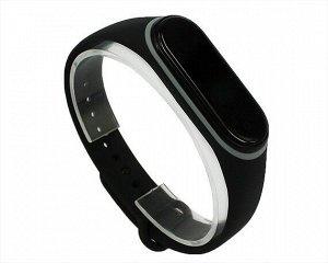 Ремешок Xiaomi Mi Band 3/4 силиконовый черно-серый #16