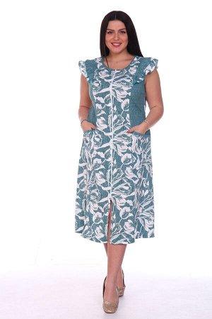 Халат Халат трикотажный женский с центральной бортовой застёжкой на молнию, полуприлегающего силуэта с мягким расклешением книзу, с О-образным вырезом горловины. Полочка и спинка с рельефами. Отрезной