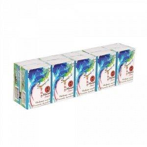 """Платочки бумажные """"Maneki"""" Sumi-e 3 слоя, 10 шт. в пачке, без аромата, 10 пачек/упаковка"""