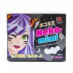Прокладки гигиенические женские Maneki, ночные, серия Neko-mimi, 280 мм, 8 шт./упаковка