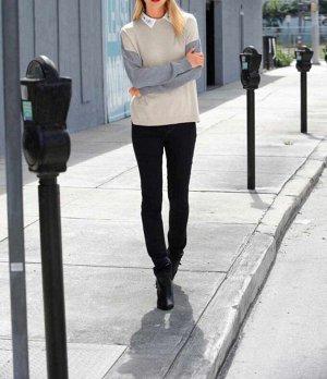 Пуловер, бежево-серый
