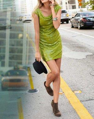Платье, зеленое