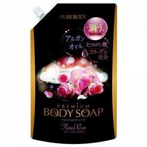 Крем-мыло увлажняющее с аргановым маслом, гиалуроновой кислотой и коллагеном (аромат букета роз) МУ 840мл
