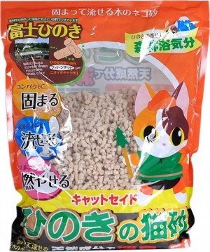 Catseido Древесный наполнитель для кошачьего туалета из японского кипариса Hinoki , 5л.