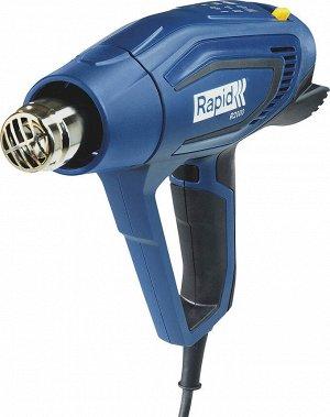 RAPID R2000 фен строительный 2000 Вт. Регулировка температуры: 60-600 °C. Расход воздуха: 250-450 л/мин. 3 режима воздушного потока