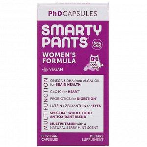 SmartyPants, PhD Capsules, формула для женщин, 60 растительных капсул