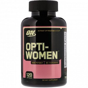Optimum Nutrition, Opti-Women, 120капсул