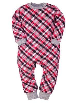 Комбинезон Количество в упаковке: 1; Артикул: МИЛ-МЛ-01-04-64; Цвет: Красный; Ткань: Интерлок; Состав: 100% Хлопок; Вес- от: 125 г.; Цвет: Красный Комбинезон цельный с открытыми ножками. Застёжка на