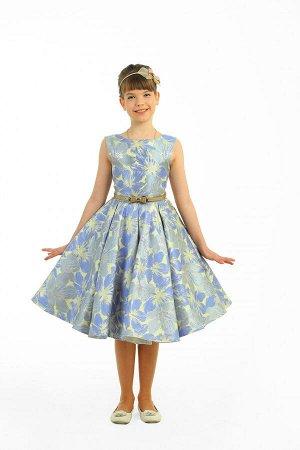 Платья Артикул: СС-1629; Цвет: Голубой; Ткань: Жаккард; Состав: 100% хлопок, 100% полиэстер; Цвет: Голубой Скачать таблицу размеров                                                 Модель выполнена из