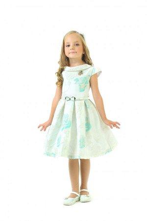 Платья Артикул: СС-1612; Цвет: Зелёный; Ткань: Жаккард; Состав: 100% хлопок, 100% полиэстер; Цвет: Бирюзовый Скачать таблицу размеров                                                 Модель выполнена