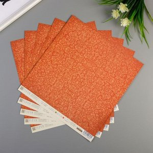 "Набор бумаги для скрапбукинга (10 листов) ""Карточки"",30,5х30,5 см, 190 гр/м2"