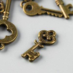 """Декор """"Ключи"""", античная бронза, набор 13 шт"""