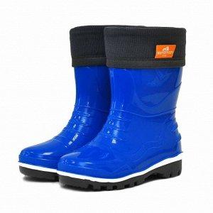 Детские резиновые сапоги с флисовым утеплителем NORDMAN STEP светло-синие