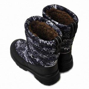 Зимние детские сапоги Nordman Lumi черно-белые