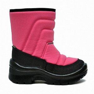Зимние детские сапоги Nordman Lumi на липучке розовые