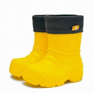 Сапоги детские Nordman Kids с вшитым флисовым утеплителем желтые
