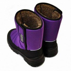 Зимние детские сапоги Nordman Lumi на липучке фиолетовые