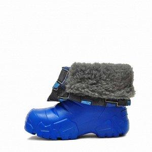 Детские зимние сноубутсы Nordman Avis из ЭВА с мехом голубые