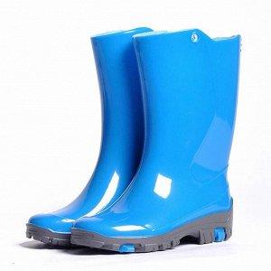 Детские резиновые сапожки Nordman Rain с вкладышем голубые