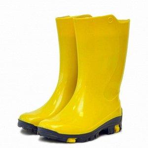 Детские резиновые сапожки Nordman Rain с вкладышем жёлтый