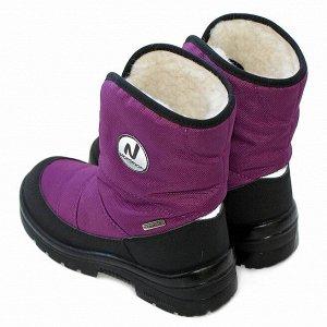 Зимние детские сапоги Nordman Next черные фиолетовые