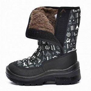 Зимние детские сапоги Nordman Lumi на липучке HUSKY K BLACK