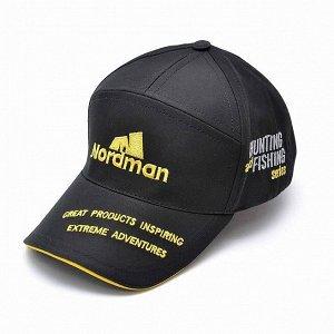 Кепка Nordman из влагозащитной ткани черная с желтым