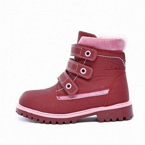 Ботинки зимние Nordman Go бордовые