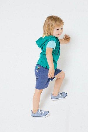 Жилет для мальчика Crockid КР 300943 зеленый, палочки к238