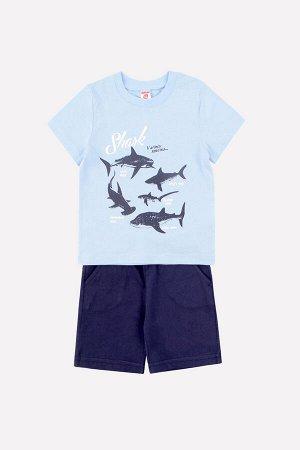 Комплект для мальчика Crockid К 2670 небесный + глубокий синий