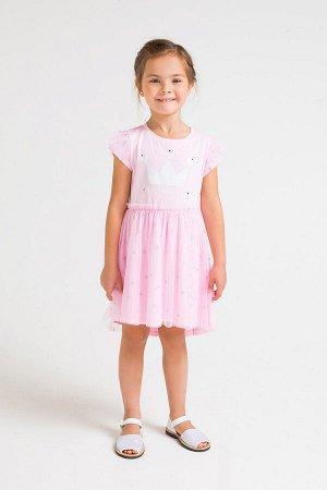 Платье(Весна-Лето)+girls (розовое облако к235)