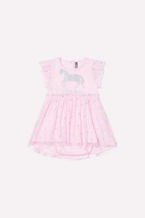 Платье(Весна-Лето)+girls (розовое облако к233)