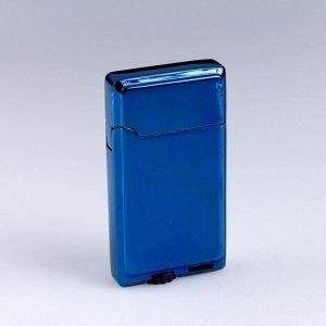 """Зажигалка газовая """"Уилтшир"""", 3.3х6.2 см, синяя"""