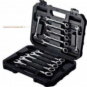 Набор комбинированных гаечных ключей трещоточных 12 шт