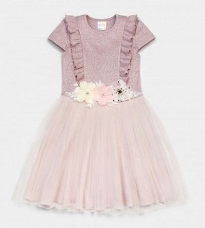 Платье для девочки, кашкорсе+ кулирка+сетка