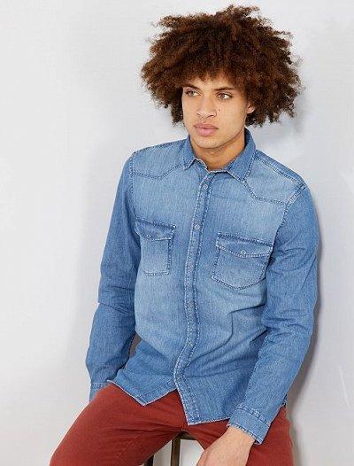 Одежда из Франции для всей семьи! — Мужчины. Рубашки. — Длинный рукав