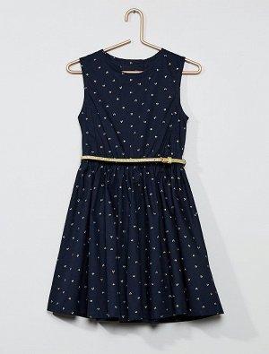 Платье из поплина с открытой спиной