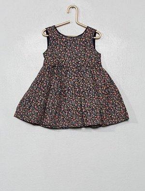 Платье из тонкого хлопка с цветочным рисунком
